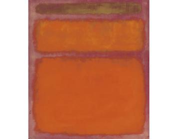 Soyut Sanat Akımı Turuncu, Kırmızı, Sarı